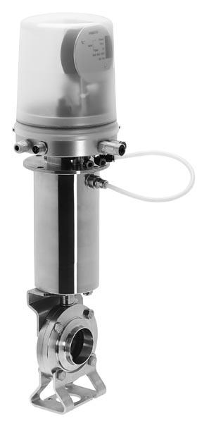 Пищевая арматура с встроенным пневмопозиционером VZFA-D-20-WW-V2-S2-E