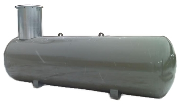 The underground tank for the liquefied gas propane-butane of 19,9 CBM.
