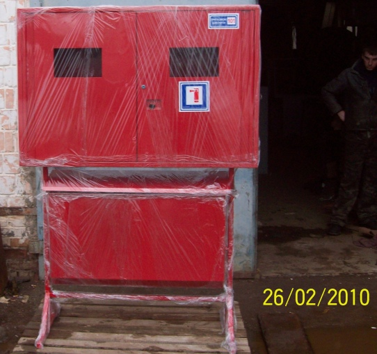 Купить Шкаф пожарный приставной металлический с ящиком для песка