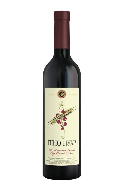 """Вино """"Пино-Нуар"""" сухое сортовое красное"""