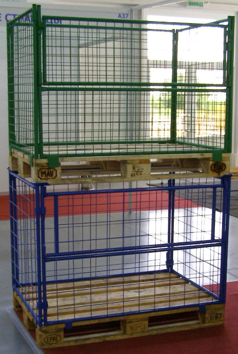 Buy The container mesh pallet folding with the cover