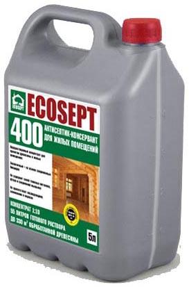 Купить Антисептик консервант для внутренних работ ECOSEPT – 400.