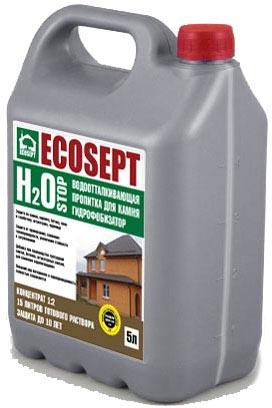 Купить Влагоизолятор ECOSEPT H2O STOP. ГИДРОФОБИЗАТОР