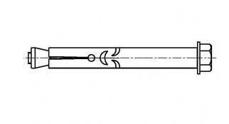 Втулочный анкер с болтом (анкерный болт)