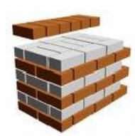 Buy Materials wall construction. Brick. The brick is fire-resistant.
