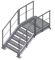 Stairs metallic