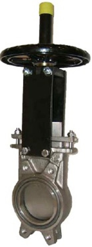 Задвижка шиберная ножевая СМО АВ Ду80 Ру10 межфланцевая, двунаправленная