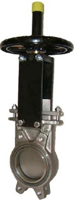Задвижка шиберная ножевая СМО. АВ Ду100 Ру10 межфланцевая, двунаправленная