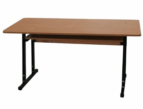 Купить Стол ученический двухместный, материал: Металлический каркас+ плита ДСП, артикул: 1079