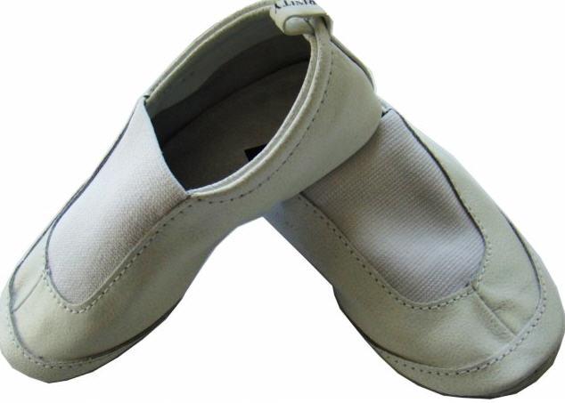 Чешки белые. Детская танцевальная обувь из натуральной кожи