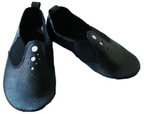 Чешки модель 1 черные. Детская танцевальная обувь из натуральной кожи