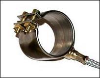 Хомутовый нагреватель тип DGS 17, ⌀ 35х40 мм, 270 Вт, 230 В, выводы 1000 мм аксиальное отклонение выводов 45гр.