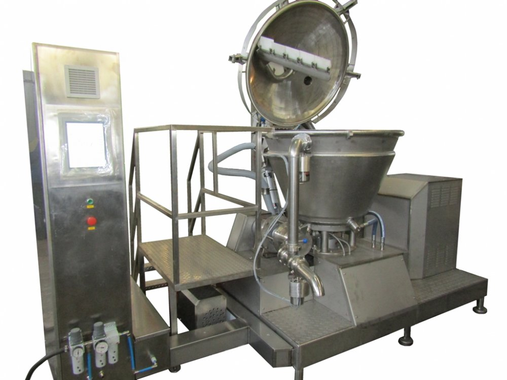 The device food universal for production of processed cheese and other pastelike products