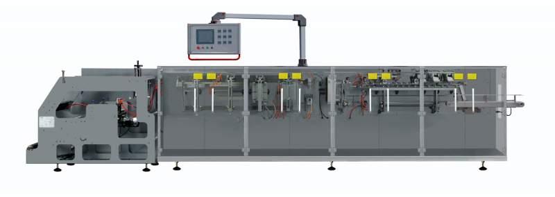 Купить Упаковочное оборудование, упаковочный автомат - для упаковки в пакеты Дой-Пак с формированием пакета из рулона пленки