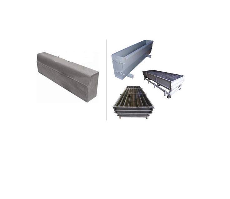 Купить Дорожный бордюр - Форма для производства дорожного бордюра железобетонного методом виброукладки бетонной смеси