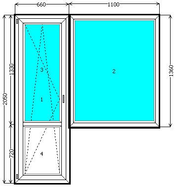 Балконный блок rehau рехау киев недорого. выход на балкон - .