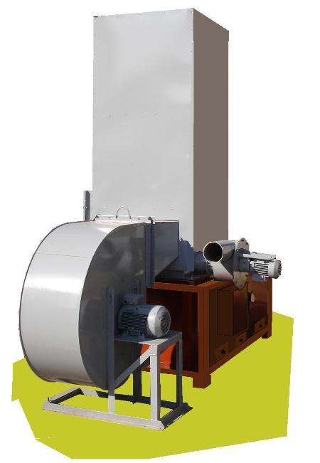 Теплогенератор Модель ТГ-70/ВЦ 4-75 6,3 стандартный мощностью 70 кВт ,  ВЦ 4-75 6,3 и дымососом