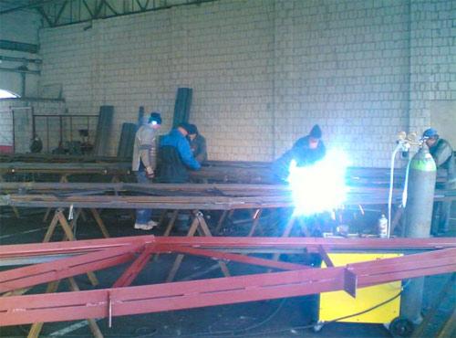 Изготовление,монтаж металлоконструкций