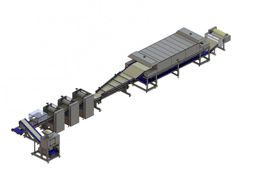 Автоматическая линия для производства фило теста (вытяжное тесто)