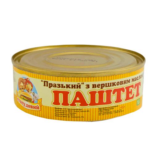 Купить Паштет Пражский со слив. маслом, Сто пудов, 240 г, ж/б