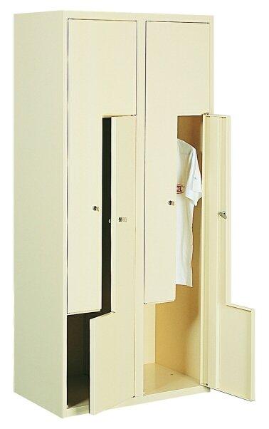 Гардеробный металлический шкаф (локер) с Г-образными дверями Sul 42