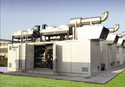 The cogeneration installations, mini-combined heat and power plant on the natural or liquefied gas