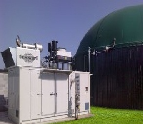 The cogeneration installations, mini-combined heat and power plant on biogas. Biogas installations.