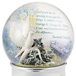 Стеклянный шар музыкальный Голубь