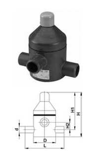 Buy Pressure relief valve type V 85, PVC-US ports for glutinous connection