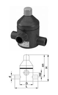 Купить Клапан сброса давления тип V 85, PVC-UС патрубками для клеевого соединения