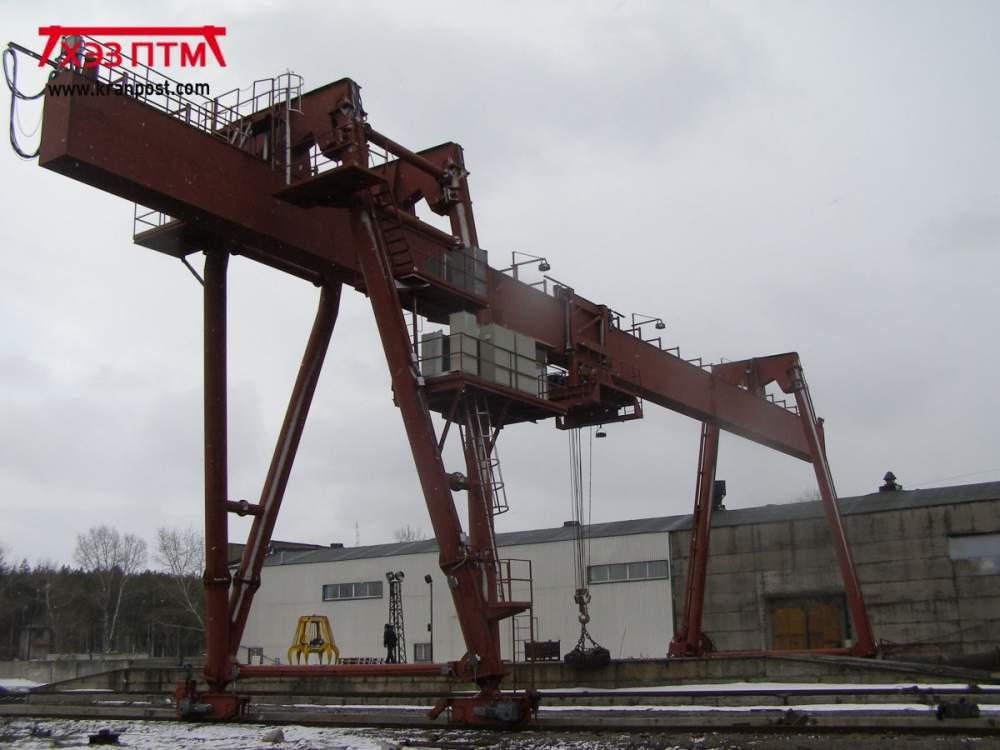 Кран козловой магнитный грузоподъемность до 16 тонн пролетом до 32 метров