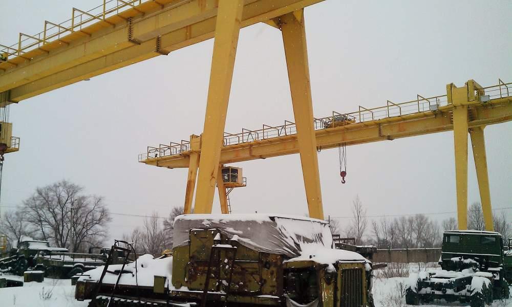 Кран козловой крюковой грузоподъемность до 45 тонн пролетом до 32 метров