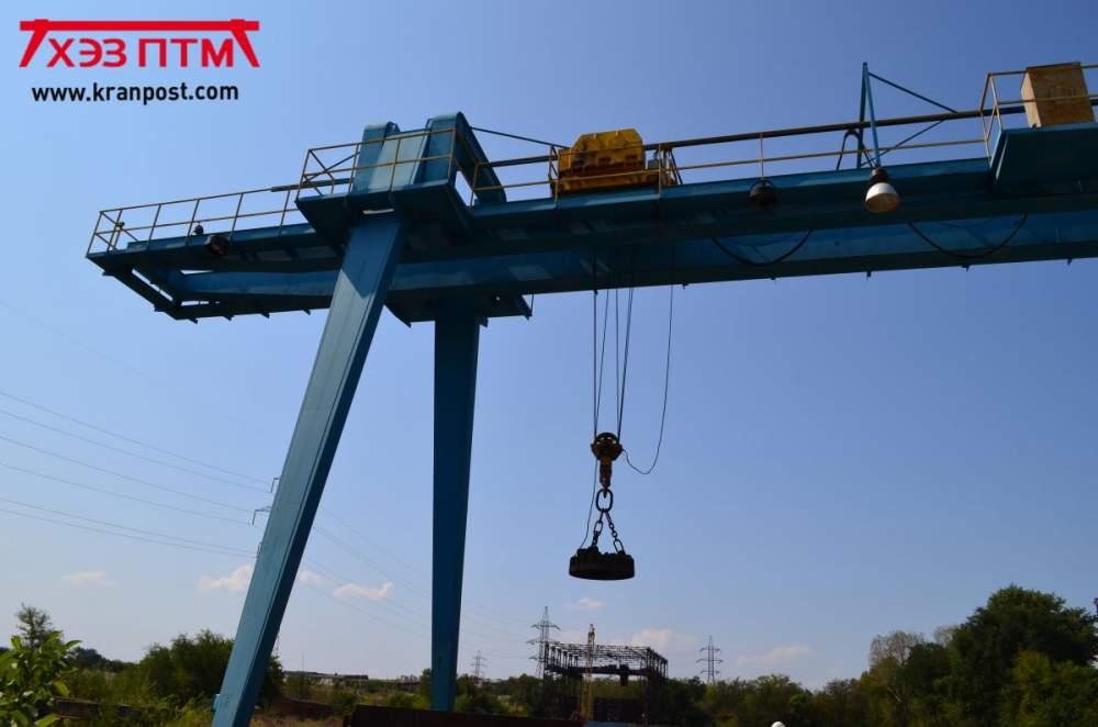 Кран козловой крюковой двухбалочный грузоподъемность до 16 тонн пролетом до 16 метров
