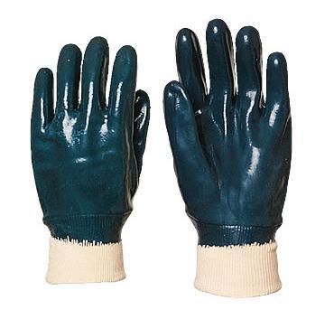 Перчатки МБС х/б-нитрил трикотажный манжет (синие)