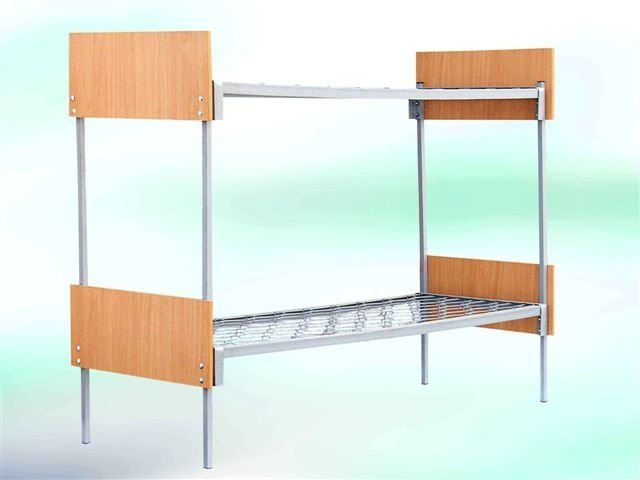 Buy Bed metal two-story with wooden backs