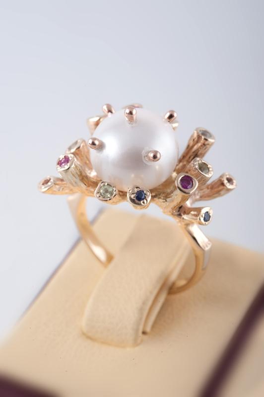 Кольцо с белым жемчугом DSC_8224