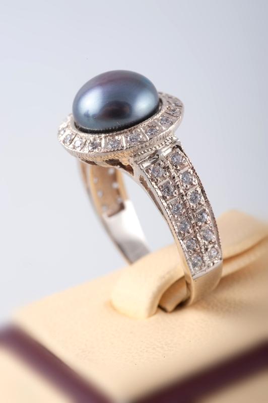 Кольцо с черным жемчугом DSC_8235