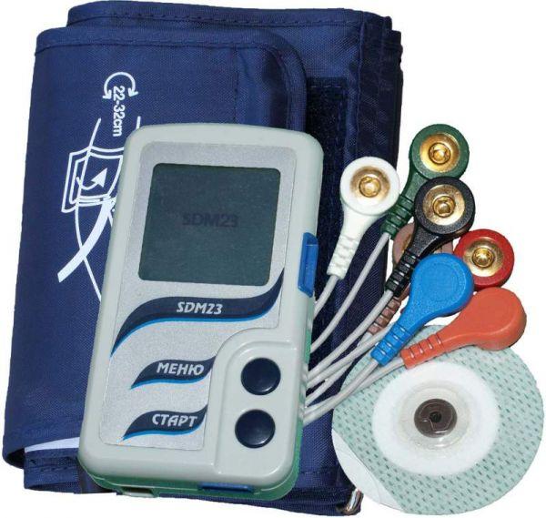 Монитор артериального давления и электрокардиосигналов суточный SDM23