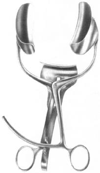 Ранорасширитель с кремальерой трехстворчатый
