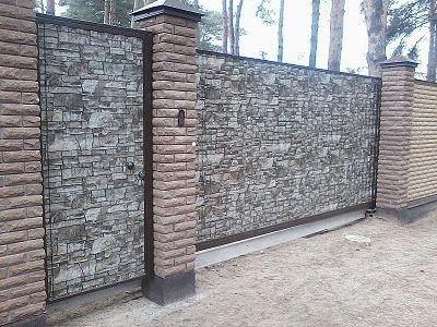 Профнастил стеновой под камень!!!!