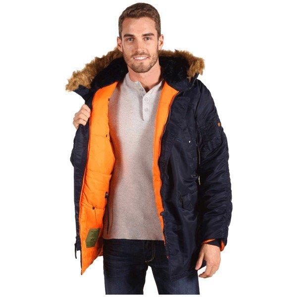 Оригинальная куртка Аляска Alpha ind. Slim Fit N-3B Parka Супер цена ... a1aecdcd8dc3e