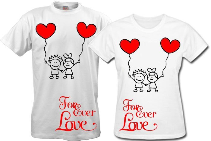 cdf32d7683 Pair t-shirts for lovers, for February 14, wedding. buy in Dnipro