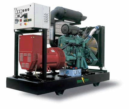 Generators of Green Power firm of Power plant Green Power with diesel Volvo engines