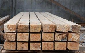 Брус деревянный строительный свежий - сосна