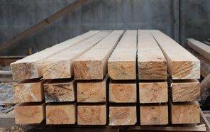 Брусок монтажный деревянный сухой калиброванный и строганный - сосна
