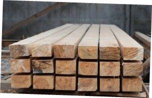 Брус деревянный строительный сухой калиброванный и строганный - сосна