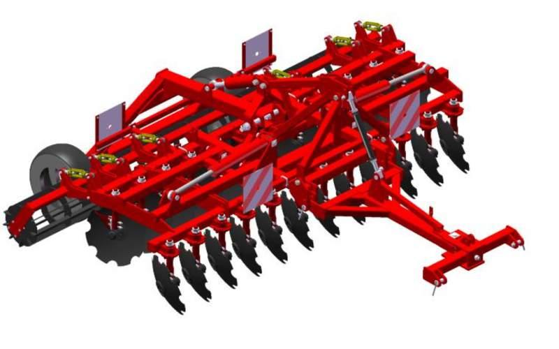 Купити Агрегат ґрунтообробний напівнавісний АГМ-4,2 призначений для основної й передпосівної обробки ґрунту під зернові й технічні культури.