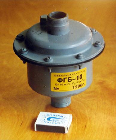 Фильтр очистки бытового газа с изолирующим фланцевым соединением