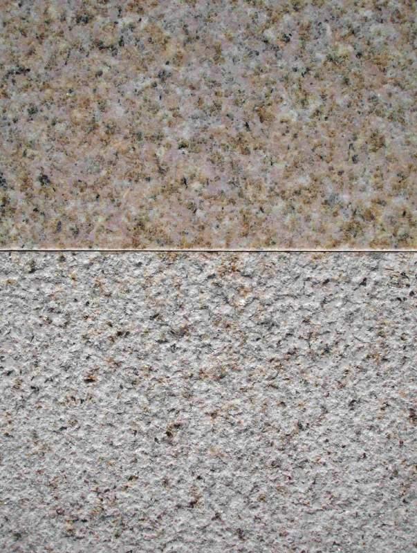 Buy Granite tile of light-yellow color buchardirovanny Sanset Gold 30mm*300mm*600mm