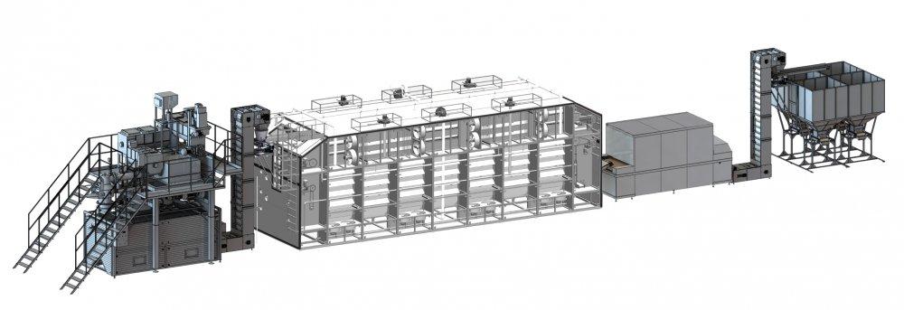 Оборудование для производства макаронных изделий  250-2000 кг/час